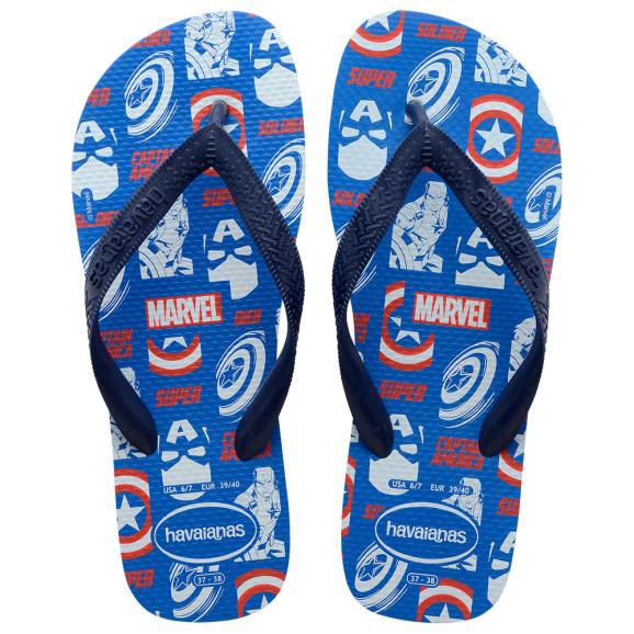 Havaianas Top Marvel Logomania (37-44) - Azul Estrela 3847