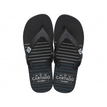 Chinelo Cartago Dakar 10738 (37-44) 02258 - Preto Preto Cinza 21733